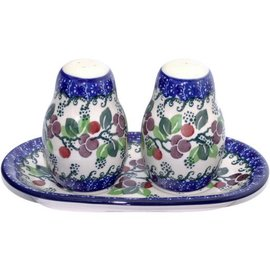 Ceramika Artystyczna Salt & Pepper Set Cranberry Vine