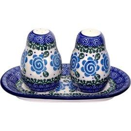 Ceramika Artystyczna Salt & Pepper Set Lady Godiva Blue