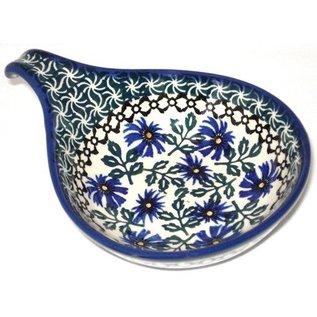 Ceramika Artystyczna Spoon Rest Size 2 Periwinkle