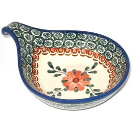 Ceramika Artystyczna Spoon Rest Size 2 Rose Tangerine