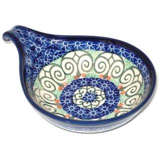 Ceramika Artystyczna Spoon Rest Size 2 Stained Glass