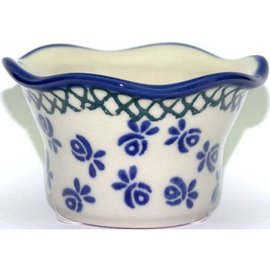 Ceramika Artystyczna Votive Holder Hidden Butterfly Blue