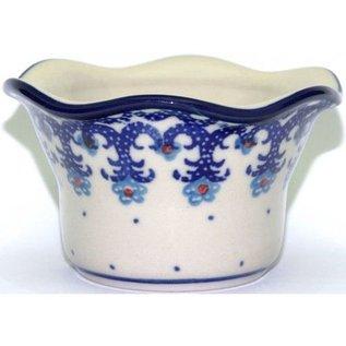 Ceramika Artystyczna Votive Holder Lacework Blue