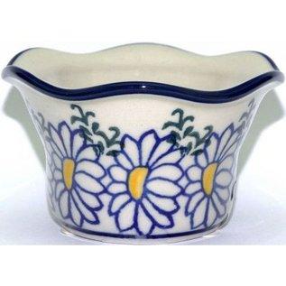 Ceramika Artystyczna Votive Holder Silver Daisy