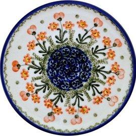 Ceramika Artystyczna Bread & Butter Plate Poppies Orange