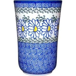 Ceramika Artystyczna Tumbler Medium Silver Daisy