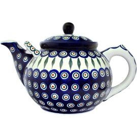 Ceramika Artystyczna Teapot Size 6 Royal Peacock