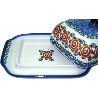 Ceramika Artystyczna Domed Butter Dish Lady Godiva Auburn