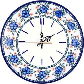 Ceramika Artystyczna Clock Apple Blossom Blue