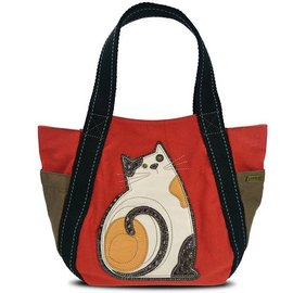 Carryall Zip Tote Cat Orange