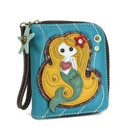 Zip Around Wallet Mermaid Blue