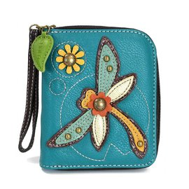 Zip Around Wallet Dragonfly Turquoise