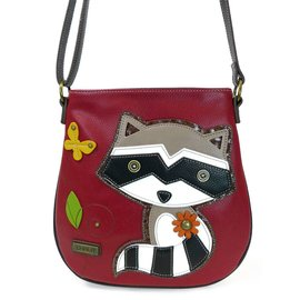 Crossbody Raccoon Burgundy