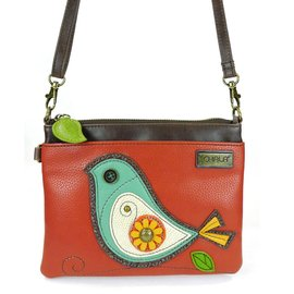 Mini Crossbody Bird - Brick Red