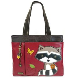 Big Tote Raccoon Burgundy w/ Charm