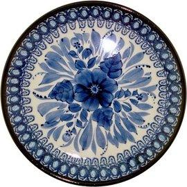 Ceramika Artystyczna Luncheon Plate Blue on Blue Signature