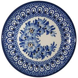Ceramika Artystyczna Bread & Butter Plate Blue Marabou Signature