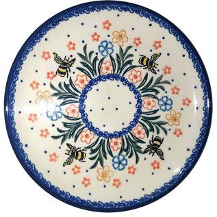 Ceramika Artystyczna Bread & Butter Plate Bumble Bee Garden