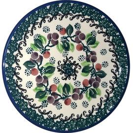 Ceramika Artystyczna Bread & Butter Plate Cranberry Vine Green