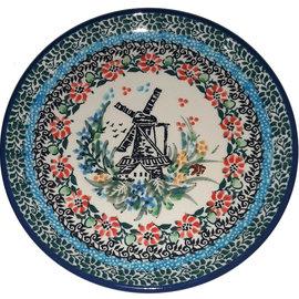 Ceramika Artystyczna Bread & Butter Plate Dutch Windmill Signature