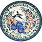 Ceramika Artystyczna Bread & Butter Plate Emerald Hummingbird Signature