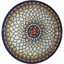 Ceramika Artystyczna Bread & Butter Plate Geometric Amber Signature