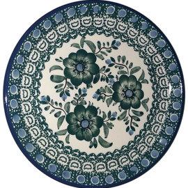 Ceramika Artystyczna Bread & Butter Plate Green Rose Signature
