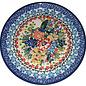 Ceramika Artystyczna Bread & Butter Plate Hummingbird Scarlet Garden Signature