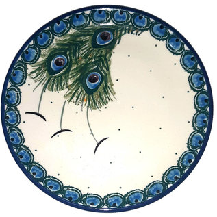 Ceramika Artystyczna Bread & Butter Plate Peacock Feather Train