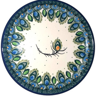Ceramika Artystyczna Bread & Butter Plate Peacock Feather