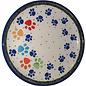 Ceramika Artystyczna Bread & Butter Plate Primary Paw Prints