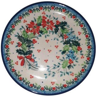 Ceramika Artystyczna Bread & Butter Plate Winter Wreath Signature 3.5