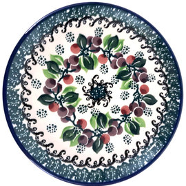 Ceramika Artystyczna Bread & Butter Plate Cranberry Vine