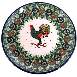Ceramika Artystyczna Bread & Butter Plate Harvest Rooster Signature