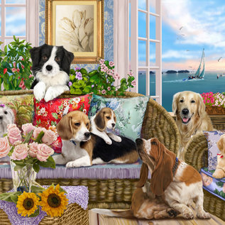 Puzzle Dogs on the Sofa