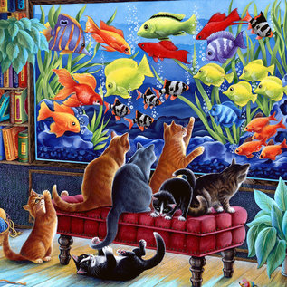 Puzzle Kittens Fishing