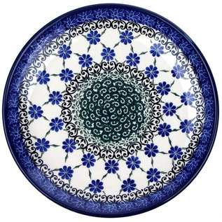 Ceramika Artystyczna Dinner Plate Petite Daisy Chain Blue