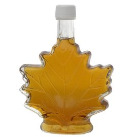 Maple Hollow Maple Syrup, Glass Leaf, Large 8.45 oz.