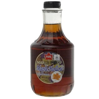 Maple Hollow Maple Syrup, Glass Traditional, 32 oz