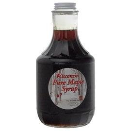 Maple Hollow Maple Syrup, Dark Amber, Glass, 32 oz Quart