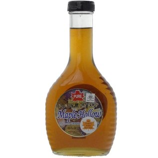 Maple Hollow Maple Syrup, Traditional Glass, 16 oz