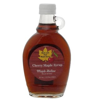 Maple Hollow Maple Syrup, Cherry 8 oz