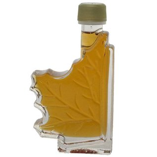 Maple Hollow Maple Syrup, Glass Half Leaf, 3.4 oz.