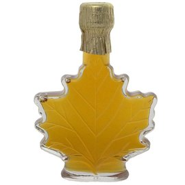 Maple Hollow Maple Syrup, Glass Leaf, Medium 3.4 oz.