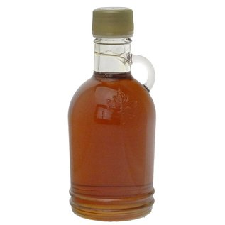 Maple Hollow Maple Syrup, Glass, Single Embossed Leaf 8.45 oz.