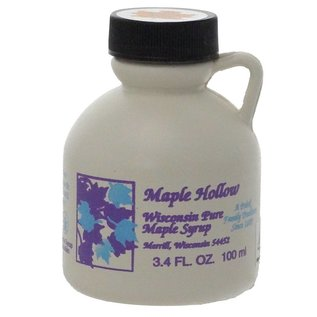 Maple Hollow Maple Syrup, Plastic, Small 3.4 oz.