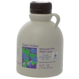 Maple Hollow Maple Syrup, Plastic, 16 oz.