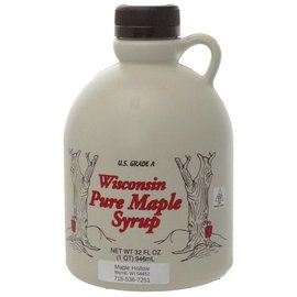 Maple Hollow Maple Syrup, Plastic, 32 oz