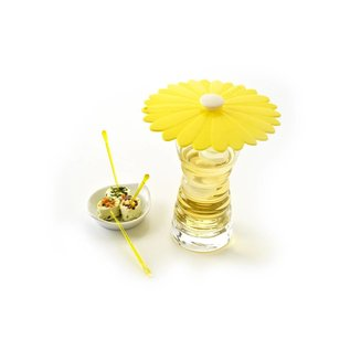 Charles Viancin Daisy Drink Cover Yellow