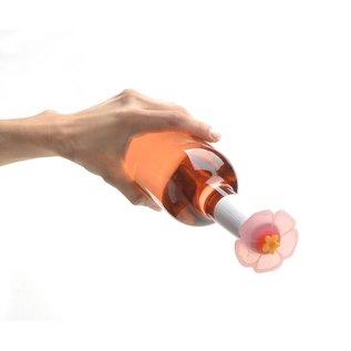 Charles Viancin Bottle Stopper, Pink Hibiscus